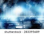 2d business graph background | Shutterstock . vector #283395689