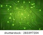 abstract vector green... | Shutterstock .eps vector #283397204