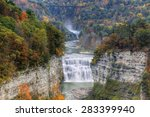 the middle falls at letchworth... | Shutterstock . vector #283399940