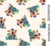 band member drummer   cartoon... | Shutterstock . vector #283406018