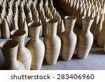 vase made of bamboo | Shutterstock . vector #283406960