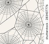 vector seamless pattern. spider ... | Shutterstock .eps vector #283407776