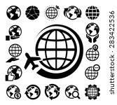 globe vector icons set....   Shutterstock .eps vector #283422536