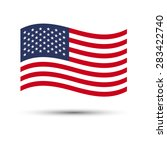 usa flag  background... | Shutterstock .eps vector #283422740