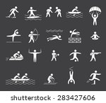 silhouette figures of athletes... | Shutterstock .eps vector #283427606