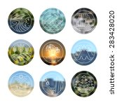 outdoor icons set. different... | Shutterstock .eps vector #283428020