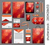 corporate identity template set.... | Shutterstock .eps vector #283428653