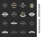 retro vintage premium quality... | Shutterstock .eps vector #283431689