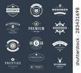retro vintage logotypes or... | Shutterstock .eps vector #283431698