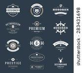 retro vintage logotypes or... | Shutterstock .eps vector #283431698