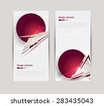 banners with abstract geometric ... | Shutterstock .eps vector #283435043