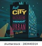 night city. vector illustration. | Shutterstock .eps vector #283440314