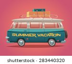 camper van. summer vacation.... | Shutterstock .eps vector #283440320