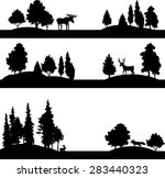 set of different landscapes... | Shutterstock .eps vector #283440323