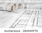 architectural project   | Shutterstock . vector #283444970