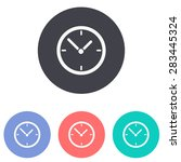 clock icon | Shutterstock .eps vector #283445324
