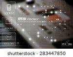 technology theme template. flat ...   Shutterstock .eps vector #283447850