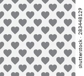 seamless pattern of hearts in... | Shutterstock . vector #283448129