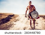 gladiator  image of a well... | Shutterstock . vector #283448780