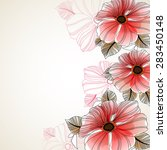 beautiful floral background of... | Shutterstock .eps vector #283450148