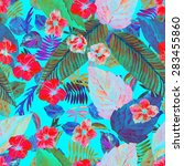 beautiful floral background of... | Shutterstock . vector #283455860