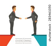 business disagreement...   Shutterstock . vector #283461050