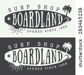 set of surfing logos  labels ... | Shutterstock .eps vector #283465238