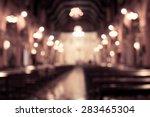 Blurred Photo Of Church...