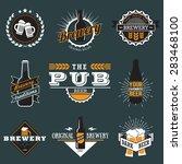 vintage craft beer  brewery... | Shutterstock .eps vector #283468100