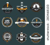 vintage craft beer  brewery... | Shutterstock .eps vector #283468103