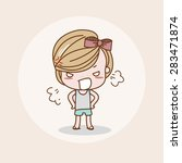 angry girl   lady   woman... | Shutterstock .eps vector #283471874