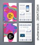 templates. set of flyer ... | Shutterstock .eps vector #283472834