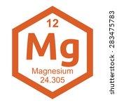 periodic table magnesium | Shutterstock .eps vector #283475783