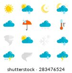 weather forecast and... | Shutterstock .eps vector #283476524