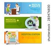 medical horizontal banners set...   Shutterstock .eps vector #283476830