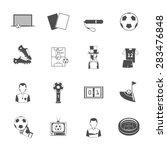 soccer sport black icons set...   Shutterstock .eps vector #283476848