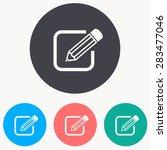 pencil icon | Shutterstock .eps vector #283477046