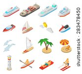 ships yachts boats and beach... | Shutterstock .eps vector #283478450