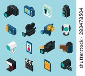 Isometric Photo And Video Icon...