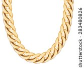 chunky chain golden metallic... | Shutterstock .eps vector #283480826