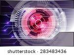 light abstract technology... | Shutterstock .eps vector #283483436