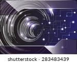 dark blue light abstract... | Shutterstock .eps vector #283483439