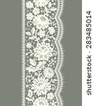 white lace vertical seamless... | Shutterstock .eps vector #283485014