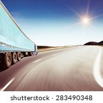 the highway traffic in sunset... | Shutterstock . vector #283490348