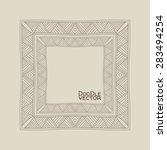 hand drawn doodle border frames.... | Shutterstock .eps vector #283494254