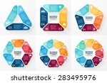 vector circle arrows... | Shutterstock .eps vector #283495976