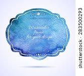 vintage artistic frame.... | Shutterstock .eps vector #283500293