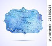 vintage artistic frame.... | Shutterstock .eps vector #283500296