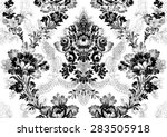 abstract hand drawn floral... | Shutterstock .eps vector #283505918