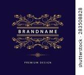 monogram design elements ...   Shutterstock .eps vector #283508828